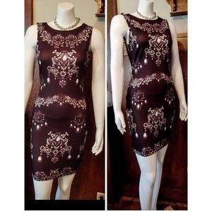 Lipsy Black & Whites Chandelier Jewel Print Dress